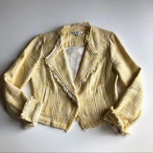 Cabi tweed yellow jacket small